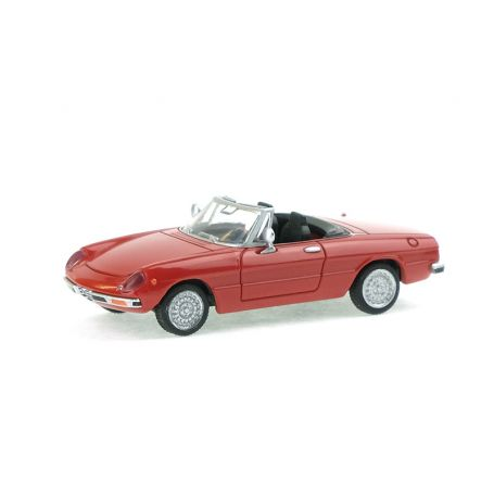 Alfa Roméo Spider 2000 rouge - HO 1/87 - Brekina 29600