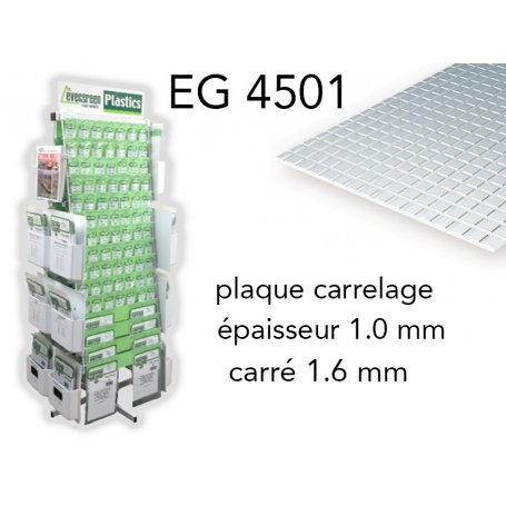 Evergreen EG X Plaque Styrène Carrelage Mm - Carrelage épaisseur 6 mm