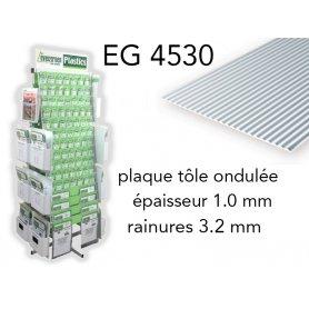 Evergreen EG4530 - (x1) plaque styrène Metal Siding - 3.2 mm
