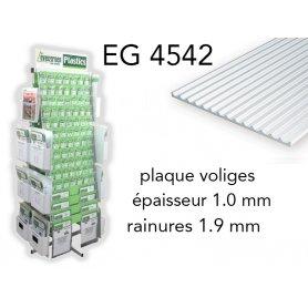 Evergreen EG4542 - (x1) plaque styrène Board & Batten - 1.9 mm