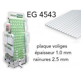 Evergreen EG4543 - (x1) plaque styrène Board & Batten - 2.5 mm