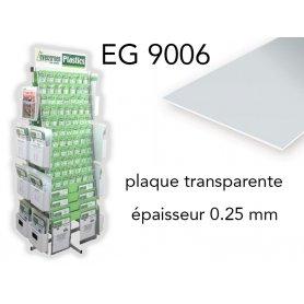 Evergreen EG9006 - (x2) plaque styrène transparente Clear - 0.25 mm