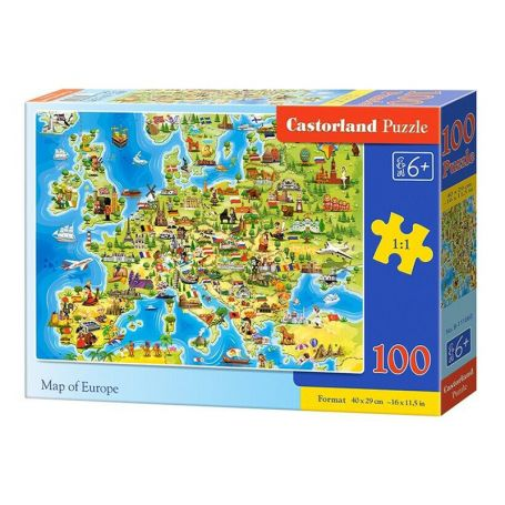 Map of Europe - Puzzle 100 pièces - CASTORLAND