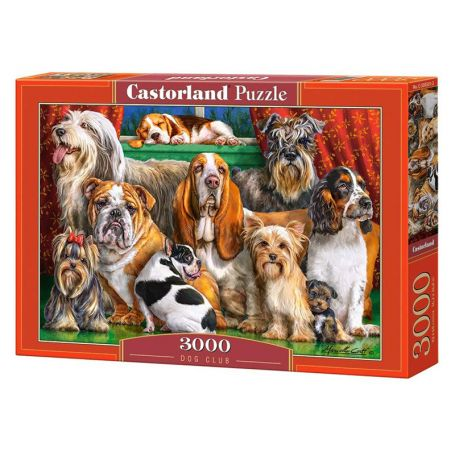 Dog Club - Puzzle 3000 pièces - CASTORLAND