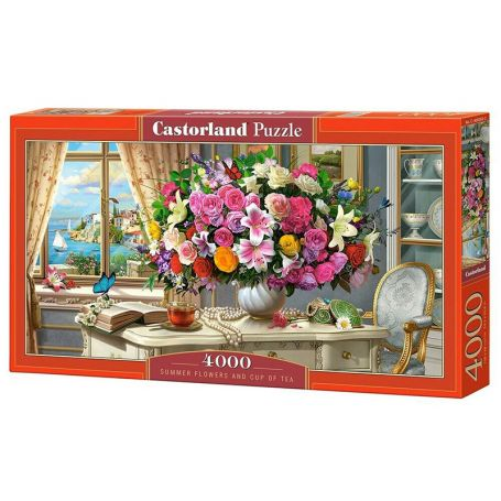 Summer Flowers and Cup of Tea - Puzzle 4000 pièces - CASTORLAND
