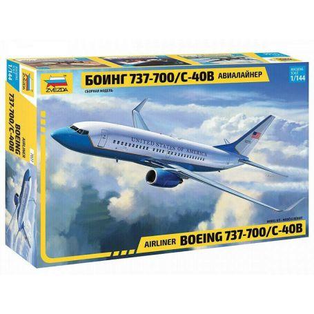 Avion civil BOEING 737-700 / C-40B - 1/144 - ZVEZDA 7027