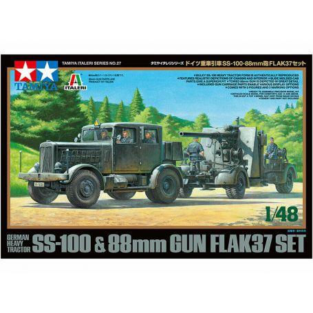 SS-100 et Flak 37 88mm WWII - 1/48 - Tamiya 37027