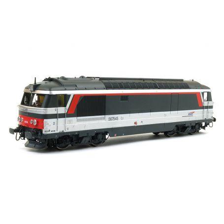 BB 67545, LONGUEAU, Multiservice version Era V - SNCF ép. V digitale sonore - HO - REE MB-099S