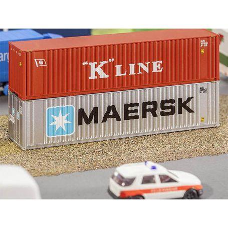 Container 40' Maersk échelle N 1/160 - FALLER 272821