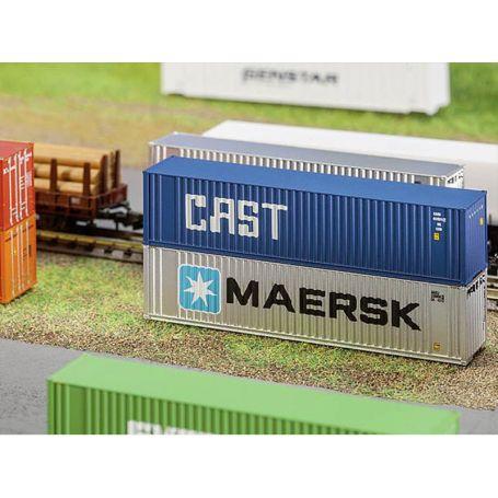 Container 40' Cast échelle N 1/160 - FALLER 272841