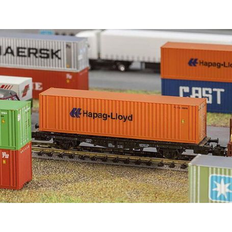 Container 40' Hapag-Lioyd échelle N 1/160 - FALLER 272842