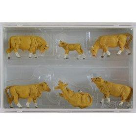 PREISER 10147 - Vaches beiges - HO 1/87