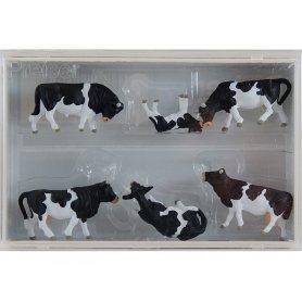 PREISER 10145 - Vaches noires et blanches - HO 1/87
