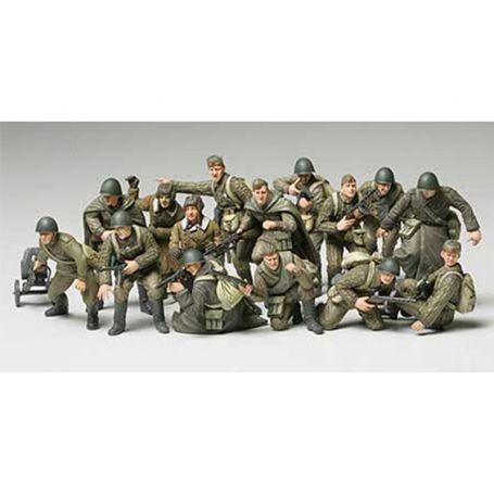 Soldats et Tankistes Russes - 1/48 - Tamiya 32521