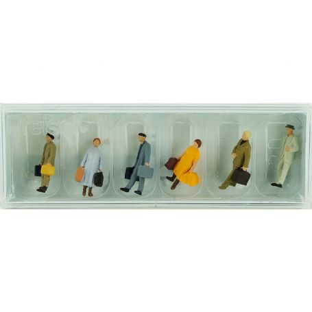 Voyageurs avec bagages - HO 1/87 - PREISER 14019