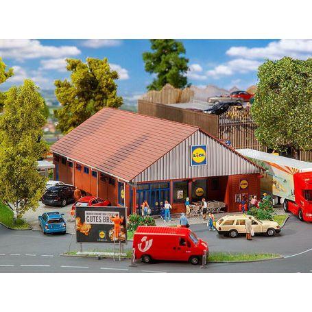 Supermarché LIDL échelle HO 1/87 - FALLER 130615