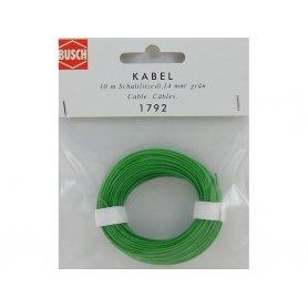 BUSCH 1792 - fil vert 10 mètres section 0,14 mm2