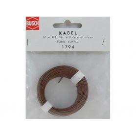BUSCH 1794 - fil marron 10 mètres section 0,14 mm2