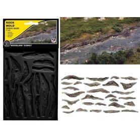 Woodland Scenics C1245 - 2 moules pour roches de ruisseaux et cours d'eau