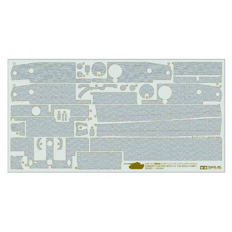 Stickers Zimmerit pour Tiger I - 1/35 - Tamiya 12647