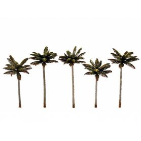 WOODLAND SCENICS TR3597 - 5x Palmiers taille moyenne échelle HO