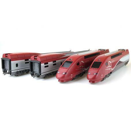 TGV Thalys PBKA SNCF ép. VI 4 éléments digital son 3 rails AC - HO 1/87 - JOUEF HJ2358SAC