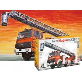 Italeri 3784 - Camion pompier IVECO MAGIRUS DLK26-12 grande échelle - 1/24