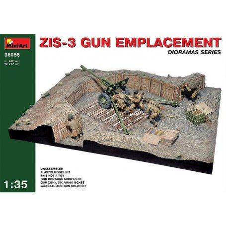 Diorama canon ZIS-3 - échelle 1/35 - MINIART 36058