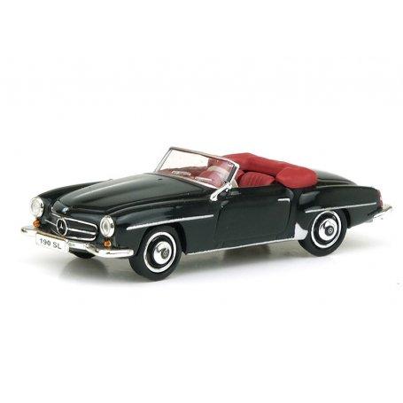 Mercedes 190 SL (W121 BII) noire - HO 1/87 - RICKO 38193