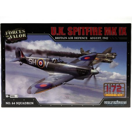 Spitfire MK IX August 1942 WWII - échelle 1/72 - FORCES OF VALOR 873009