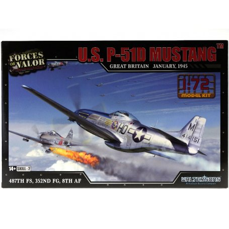 U.S. P-51D Mustang January 1945 WWII - échelle 1/72 - FORCES OF VALOR 873010