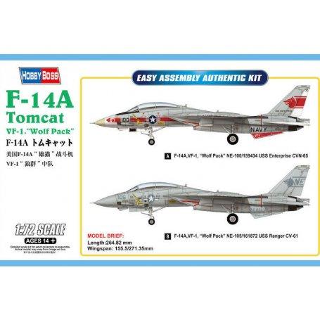 F-14A Tomcat VF-1 Wolf Pack - échelle 1/72 - HOBBY BOSS 80279