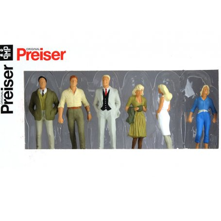 6 passants - échelle O 1/43 - PREISER 65318