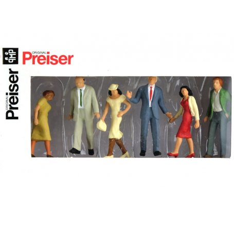 6 passants - échelle O 1/43 - PREISER 65322