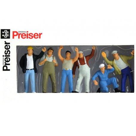 6 camionneurs - échelle O 1/43 - PREISER 65319