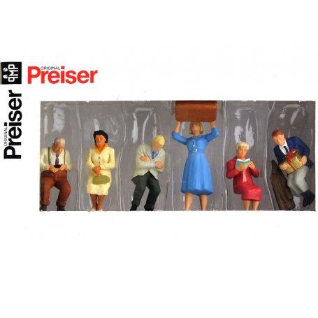 6 passagers assis - échelle O 1/43 - PREISER 65368