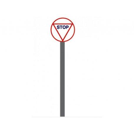 Panneau Stop ancien - HO 1/87 - ABE 103