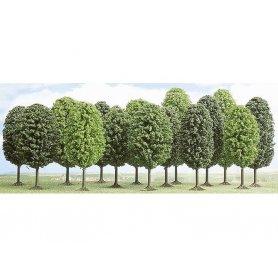 Busch 6486 - Assortiment 12 arbres feuillus échelle HO