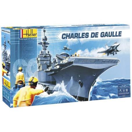 Porte-avions Charles de Gaule - échelle 1/400 - HELLER 52905
