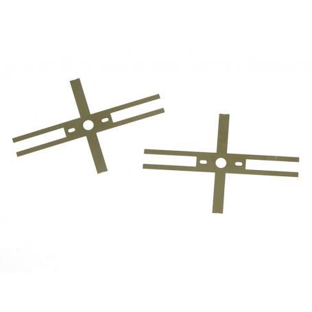 2x lamelles de prise de courant universelles - échelle HO 1/87