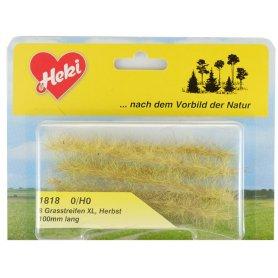 HEKI 1818 - 10 bandes d'herbe vert automne 100 mm hauteur 10-12 mm échelle HO