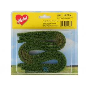 HEKI 1187 - 3x haie flexible en mousse 50 cm vert foncé
