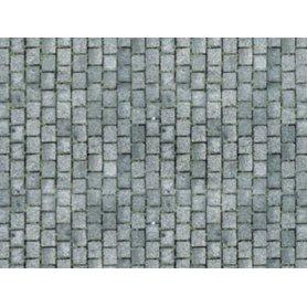 HEKI 12072 - 3x feuilles cartonnées gros pavés HO - 34 x 21 cm
