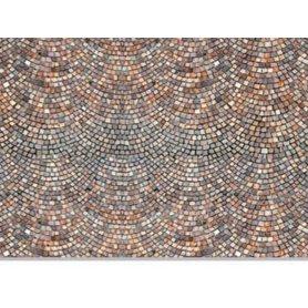 HEKI 12071 - 3x feuilles cartonnées pavés romains HO - 34 x 21 cm