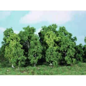 HEKI 1992 - 14 arbres à feuilles 5 à 12 cm - échelle HO et N