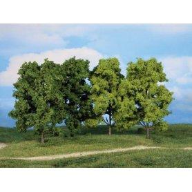 HEKI 1990 - bosquet 5 arbres à feuilles 18 cm échelle HO