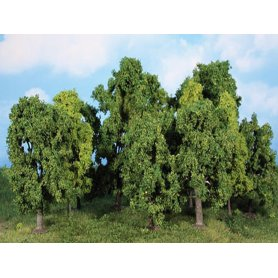 HEKI 1993 - 12 arbres à feuilles 8 à 13 cm échelle HO et N