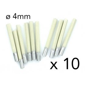 Set de 10 recharges pour pinceau fibre de verre 4 mm - Modelcraft