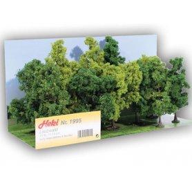 HEKI 1995 - Forêt de 12 arbres à feuilles de 11 à 13 cm échelle HO et N