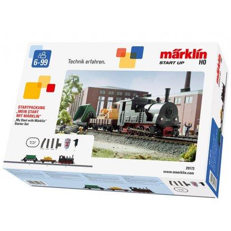Coffret démarrage train de marchandises vapeur HO MARKLIN - 29173